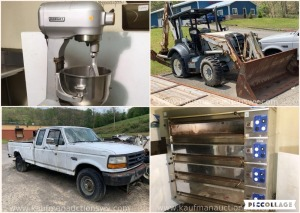 Commercial Food Equipment, Vehicles and Backhoe