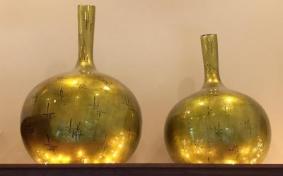 2 Large Decorative Vases