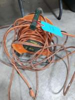 Tower Power extension cord reel and extension cord