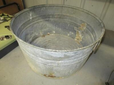 GALVANIZED METAL TUB