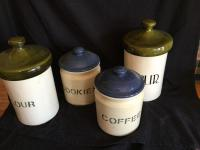 Ceramic canister set variety of pieces