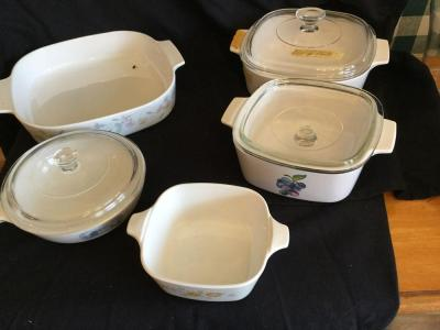 Corningware cook pans several with lids variety of designs
