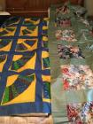 2 Handmade quilt tops (Has been pieced & sewn but has not been quilted)  both queen size
