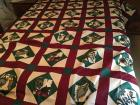 1 handmade quilt top (Has been pieced and sewn but has not been quilted) King/queen size
