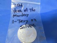 2016 YEAR OF THE MONKEY COIN