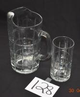 10 piece Anchor Harbor Glasses and 1 Pitcher with Linen