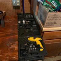 Stanley Socket, Wrench Set & Drill