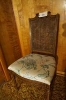 Chair With Upholstered Seat & Cane Back