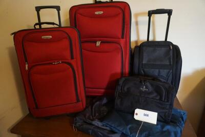 "Roller Luggage: 20"", 22"", 28""; Garment Bag, Duffel Bag, Small Tote Bag"