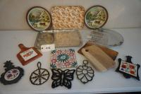 Platters, Trivets, & Cheese Boards (15 pcs)