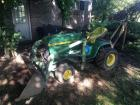 John Deere 400 Tractor with front loader and Brantley MFG backhoe attachment - 4ft bucket and 8in bucket - SN: C400D 033339M *couldnt start, will need battery*