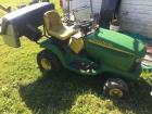 John Deere LT160 automatic - 16hp - needs battery and carb. - bracket for leafy collector