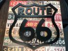 "Route 66 Sign, wood, 18""X18"""
