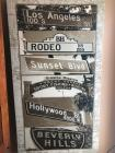 "Large Vintage Style California Sign, 30""X54"""