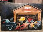 Large 3 Dimensional Tin Hot Rod Sign