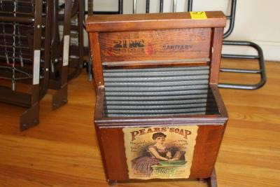 Washboard magazine rack