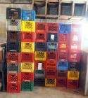 Molded Plastic Milk Crates, Qty Approx. 70