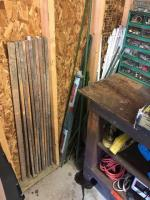 Lot of fence post and tomatoes stakes