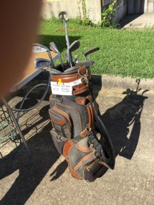 Knight golf bag and clubs