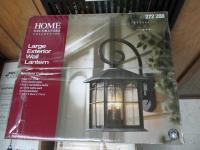 HOME DECORATORS LARGE EXTERIOR WALL LANTERN