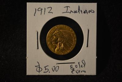 1912 INDIAN HEAD GOLD COIN