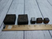 SET OF VINTAGE WOOD BLOCK STAMPS