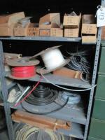 Shelf and contents; tubing, miscellaneous hardware