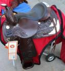 "Circle Y Western Show Saddle in Dark Oil with Saddle Carrier- Park and Trail, 15.5""-16"" Seat"