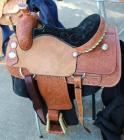 "Silver Royal Western Roper Saddle with Saddle Carrier- 16"" Seat, 29"" Length, 15.5"" Depth"