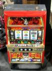 Authentic Japanese Pachislo Skill Stop Slot Machine, Star Of The Giants Baseball Themed Machine With Key & Tokens, Powers On But Unknown Working Order
