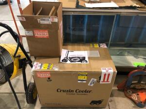 New in the box Cruzin Cooler - Cooler Scooter with New 48V Battery