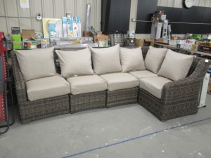 FAUX WHICKER SECTIONAL
