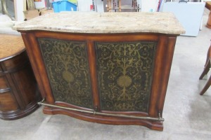 BAR - KITCHEN ISLAND - NICE INLAY  FAUX MARBLE TOP