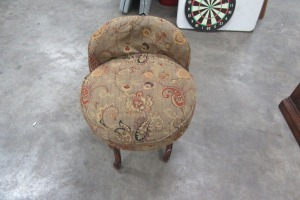 CLOTH - VANITY STOOL - BOUIDOR FURNITURE CO.