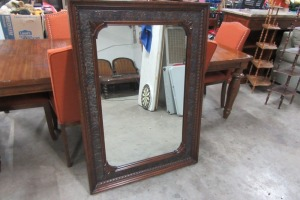 LARGE DECORATIVE MIRROR - 36X50 - CARVED DESIGNS