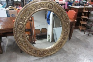 LARGE ROUND - DECORATIVE MIRROR - BEVELED EDGE