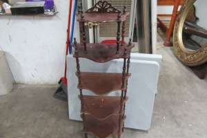 5 TIER - CHERRY FINISH - WHAT KNOT - STAND