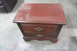 CAROLINA FURNITURE - CHERRY 2 DRAWER NIGHT STAND