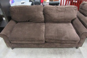 BROWN - MICRO-FIBER - LOVE SEAT - 70 INCHES WIDE