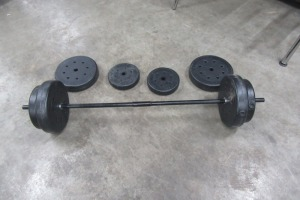 WEIGHT SEAT WITH BAR - PLASTIC WEIGHTS