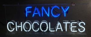 """Fancy Chocolates"" Neon Sign"
