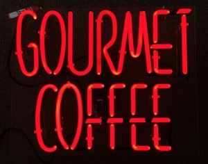 """Gourmet Coffee"" Neon Sign"