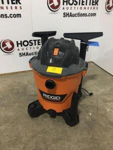 Ridgid shop vac - new - all parts are in vac