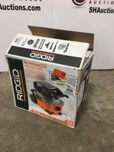 Ridgid shop blower / vac - new - all parts are in box - 4 gal - 6 hp