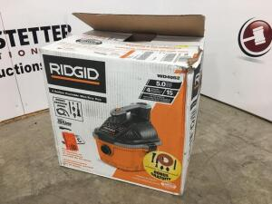 Ridgid shop vac - new - all parts are in box - 4 gal - 5 hp