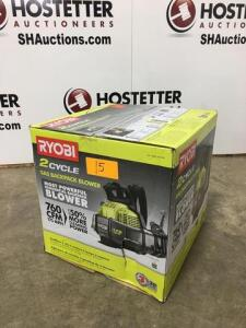 Ryobi 2 cycle back pack blower - 175 mph - new in box