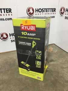 Ryobi Electric snow shovel - 12in - new in box - throws snow 25ft