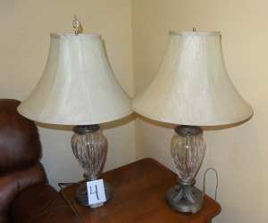 Pair Lamps with Shades