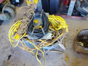 EXTENSION CORDS, SURGE PROTECTOR, & WORKLIGHT