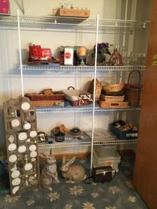 All items in dining room closet include Coca-Cola collectibles, beer glasses, trivets, baskets, digital picture frame, stemware, rabbits, Jason 7 x 35 binoculars model number 138, Contaflex Synchro-Compur camera, and so much more Don't miss out!!